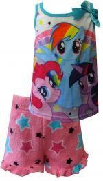 My Little Pony Rainbow Dash Twilight Sparkle Pinkie Pie Shortie PJ