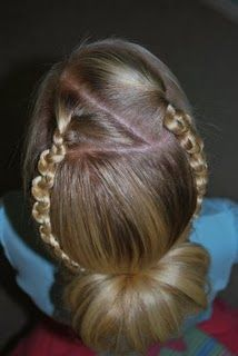 We love these slide-up braids.  #kids #hair #hairstyle