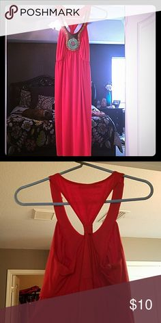 Cute summer dress Burnt orange summer dress with cute multi colored beading Maurices Dresses Midi