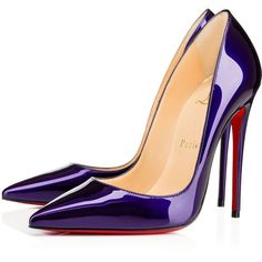 Women's Designer High & Sky High Pumps - Christian Louboutin Online... ($580) ❤ liked on Polyvore featuring shoes, pumps, louboutin, heels, stiletto heel pumps, patent leather pointy toe pumps, patent pointed toe pumps, patent leather pumps and stiletto shoes