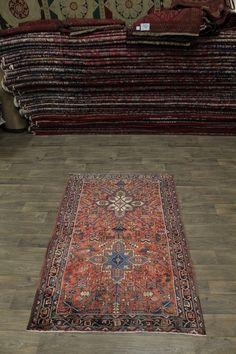 Amazing Rare Semi Antique Handmade Heriz Persian Area Rug Oriental Carpet 4X7 | eBay