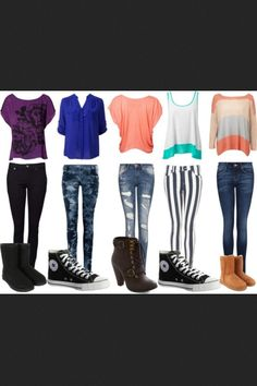 Teen fashion! Would wear all of this but not ugg boots....