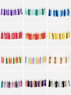 Tassel Garlands /Guirnaldas de Borlas  www.lafiestadeolivia.com Diy Party Decorations, Birthday Decorations, Deco Ballon, Diy Room Decor For Teens, Diy And Crafts, Paper Crafts, Tassel Garland, Mexican Party, Childrens Party