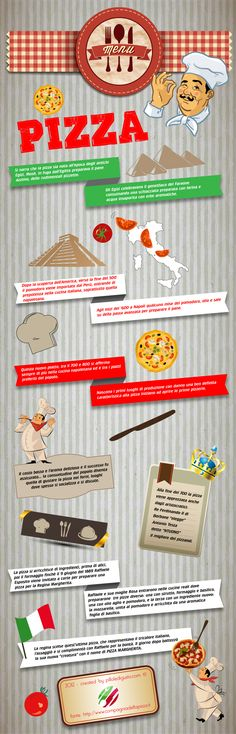 Infografica sulla storia della pizza http://www.pilloledigusto.com/articoli-di-gusto/redazionale/le-origini-della-pizza-infografica/