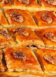 Sweet Potato and Nut Baklava   This modern version of traditional baklava features mashed sweet potatoes among the layers of sugared nuts and flaky phyllo dough, making it a special and unique dessert.