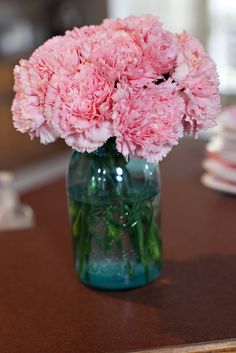 mason jar and beautiful pink flowers.... READY for SPRING!