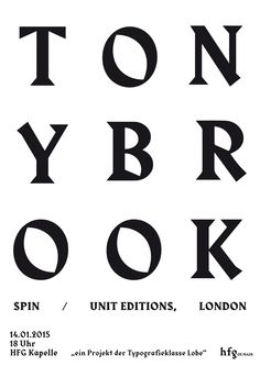 typeclass-of-hfg: poster »tony brook«, anne krieger, typeclass of hfg, 2015