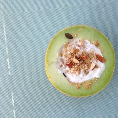 melon / yoghurt / home made granola