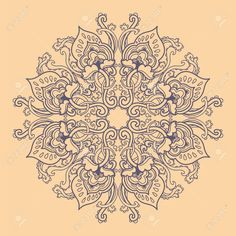 Ornamental round floral lace pattern. kaleidoscopic floral pattern, mandala.  Stock Vector