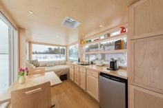 Love the Escape tiny home with no loft!  No ladders for me!
