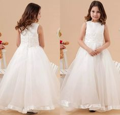 Ivory Flower Girls Dresses 2015 Latest Eiffelbride with Embellished Bling Bling Beaded Lace Applique Princess Organza Girls Pageant Gowns Ivory Flower Girl Dresses Bling Beaded Lace Girls Pageant Gowns Online with $75.43/Piece on Eiffelbride's Store | DHgate.com
