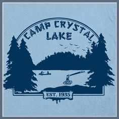 Camp Crystal Lake T SHIRT Friday the 13th art poster Tee Jason Voorhees Cult Horror T on Etsy, $12.00