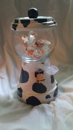 Cow themed gumball machine candy dish with by littleayeka40, $12.00