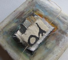 somewhere is the journey #2  encaustic, book arts, collage  roxanne evans stout