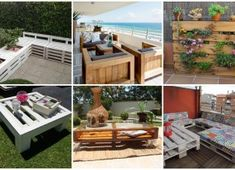 There are countless possibilities for using wooden pallets for furniture production. We have already presented you so many creative ideas for the Wooden Pallet Furniture, Wooden Pallets, Outdoor Furniture Sets, Outdoor Decor, Furniture Ideas, Build A Coffee Table, Free Pallets, Garden Pictures, Fire Pit Backyard