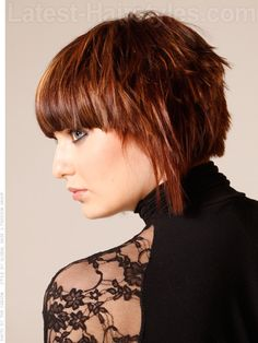 Heavy Bang Hottie Straight Bangs Highlighted Style Side View