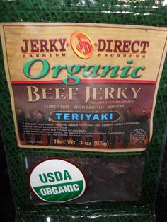 Delicious Organic Jerky.  When you're a preferred customer, you can order at wholesale prices!  It's a great way to stock up for all your sporting/camping events!  www.teriesmeattreats.jerkydirect.com Organic Beef, Beef Jerky, High Protein, Packaging Design, Fat, Camping, Events, Workout, Campsite