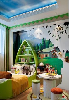Encyclopedia of European Villas luxury children's room 2016