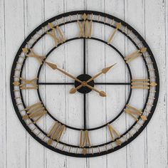 large antique style black - Designer Large Wall Clocks