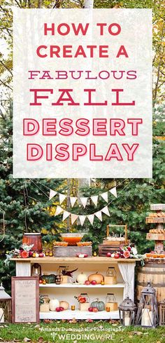 Mini pumpkin pies, caramel apples, cinnamon powdered donuts and s'mores are just a few reasons why we LOVE dessert! Check out this guide for creating a fab fall dessert display for your wedding!