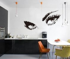 WOW!STickeRs Audrey Hepburn's Eyes Silhouette Wall Sticker Decals Home Decor Removable Black
