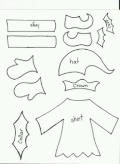 Elf yourself paper doll template