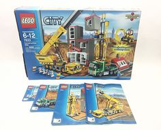 Lego City 7633 Construction Site Town City Crane Backhoe Building 100% Complete #LEGO
