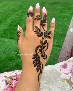 Modern Henna Designs, Henna Tattoo Designs Simple, Finger Henna Designs, Arabic Henna Designs, Unique Mehndi Designs, Beautiful Henna Designs, Simple Henna, Khafif Mehndi Design, Floral Henna Designs