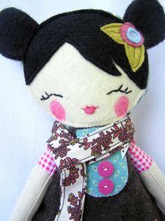 Nooshka Nature Doll...RESERVED por nooshka en Etsy