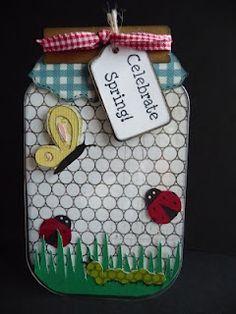 Jar shaped card - Celebrate Spring  Jeri Thomas
