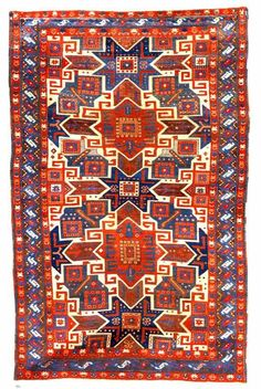 Type C Star Kazak rug 3rd quarter 19th C.  Star Kazak rug, Southwest Caucasus third quarter 19th century oxidized browns, scattered rewoven and repiled areas, missing end guard stripes, reselvaged, approximately 7 ft. 8 in. by 5 ft. (2.34 by 1.52m.)