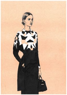 Fashion illustrations. Part 6. by Diana Kuksa (Nesypova), via Behance