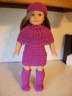 Free Eighteen Inch Doll Jazzy Winter Outfit Crochet Pattern Part Two The Go Go Boots