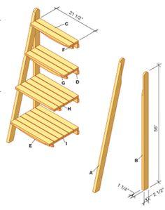style ancien escalier escabeau ancienne echelle tag re console porte plante b r o c a n t e. Black Bedroom Furniture Sets. Home Design Ideas