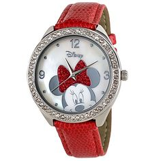 Red Strap Minnie Mouse Watch for Women