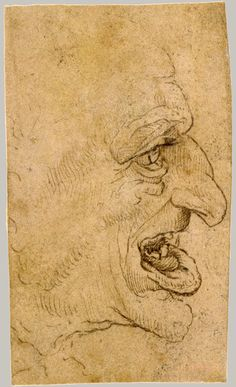 Copy after Leonardo da Vinci: Grotesque Head: Man in Profile to Right (17.142.3) | Heilbrunn Timeline of Art History | The Metropolitan Museum of Art