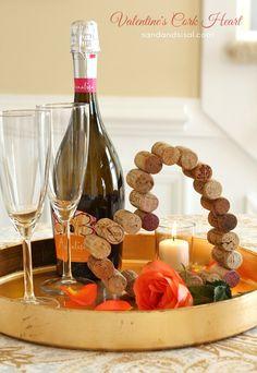 Valentine's Cork Heart #yearofcelebrations