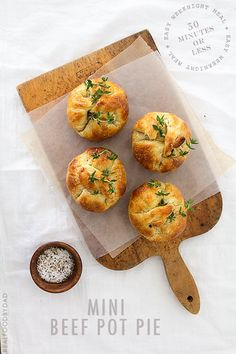 Mini Beef Pot Pie via Real Food by Dad