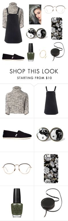 """Untitled #313"" by fashion-with-dudette on Polyvore featuring Brunello Cucinelli, Topshop, TOMS, Linda Farrow, OPI and Sara Barner"