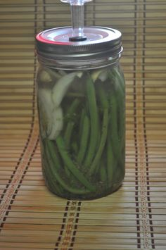Spicy Dilly Beans - fermented green beans.  The author says it's very kid friendly.