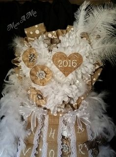 Burlap senior homecoming mum. Shipping available. Mum A Mia