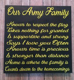 Our Army family  wood sign military  family by Vinylbugdesigns