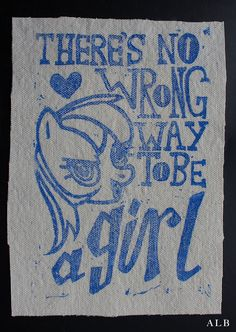 There's No Wrong Way to Be a Girl patch by albinwonderland on Etsy, $7.13