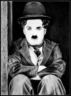 Portrait Au Crayon, Portrait Art, Charlie Chaplin Old, Charles Spencer Chaplin, Chola Style, Good Morning Beautiful Images, Charcoal Portraits, Chiaroscuro, Arte Pop