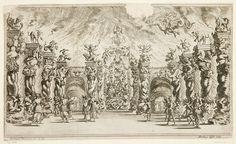 "Ludovico Ottavio Burnacini / Mathäus Küsel - Stage Design for the opera ""Il pomo d'oro ' (Underworld Scene) 1667 by Aeron Alfrey, via Flickr"