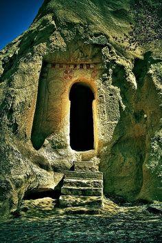 Ancient keyhole door, Turkey by ida