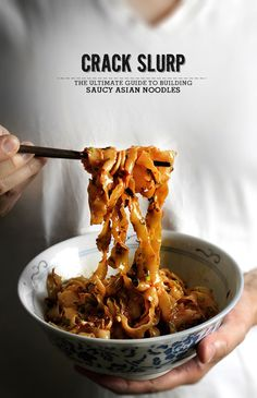 Bunker Crack Slurp, The ultimate guide to building saucy Asian noodles (ultimate guide part I), via lady and pups. Think Food, I Love Food, Food For Thought, Good Food, Yummy Food, Tasty, Gula, Asian Cooking, Asian Recipes