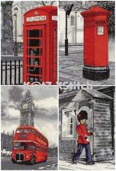 DMC-LONDON-SCENES-CROSS-STITCH-KIT-Choose-From-Four