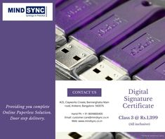 Complete Paperless Online procedure to get your Class 3 Digital Signature Certificate @ just Rs.1,399/-. Contact us today: customer.care@mindsync.co.in | 8694800400 www.mindsync.co.in #mindsyncindia #digitalsignature #dsc #digitalsignaturecertificate #class3 #mca #gst #incometax #dgft #foreigndsc #business #digital #certifyingauthority #startup #compliance Digital Signature, Certificate, Mindfulness, How To Apply, Business, Store, Business Illustration, Consciousness