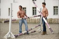 Jump crew! Alison you need these guys to help you build horse jumps I will send them over next time.